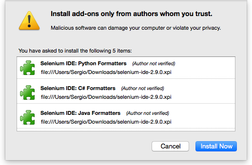 Automated website testing in Firefox with Selenium IDE plugin